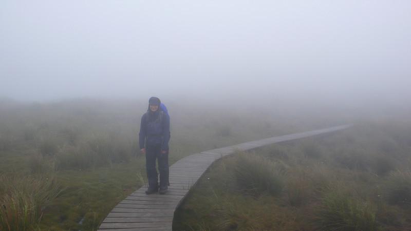 Heading towards Kime Hut in typical Tararuas weather