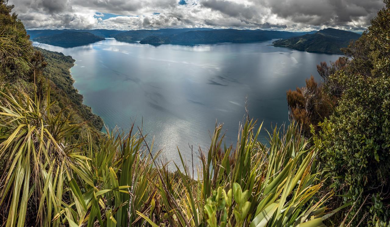 View of Lake Waikaremoana from the Panekiri Range.