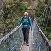 On the swingbridge over Korokoroowhaitiri Stream