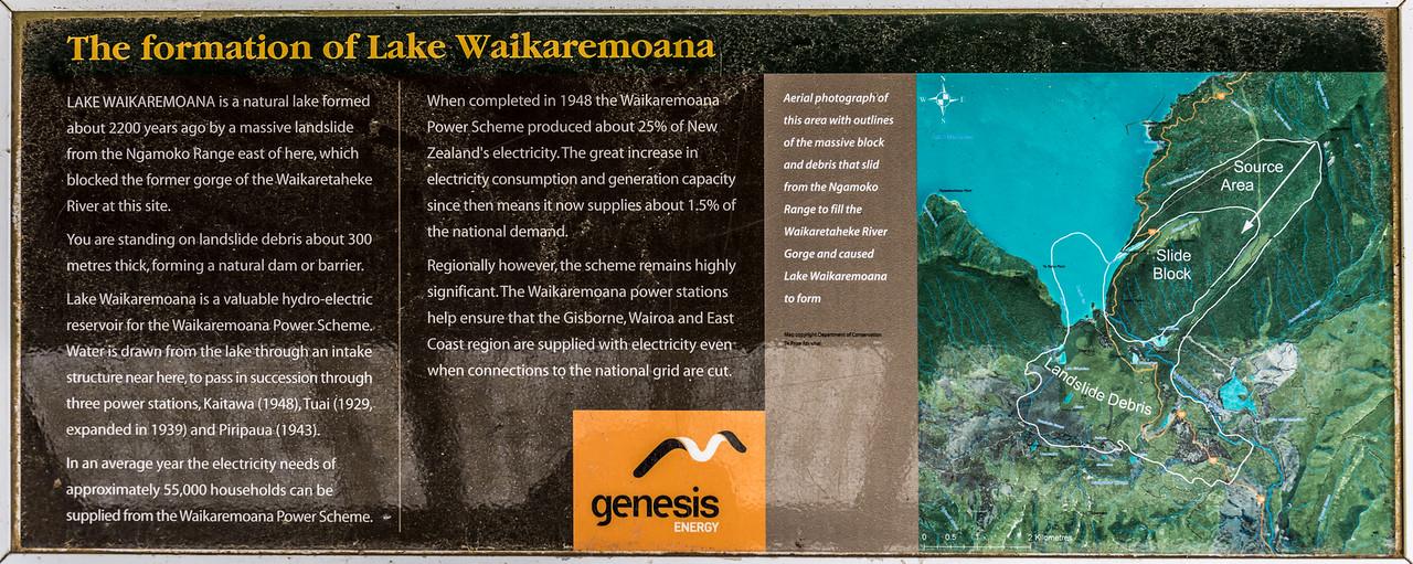 The formation of Lake Waikaremoana