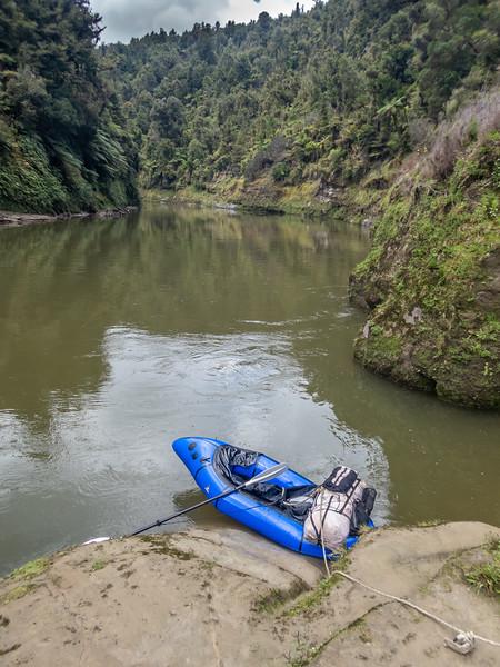 Packrafting the Whanganui River. Mangapapa Campsite.