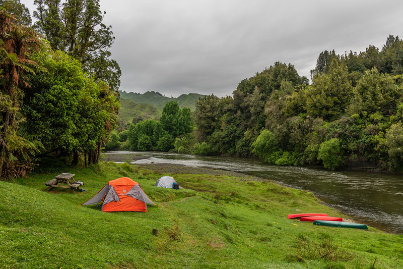Poukaria campsite, Whanganui River.