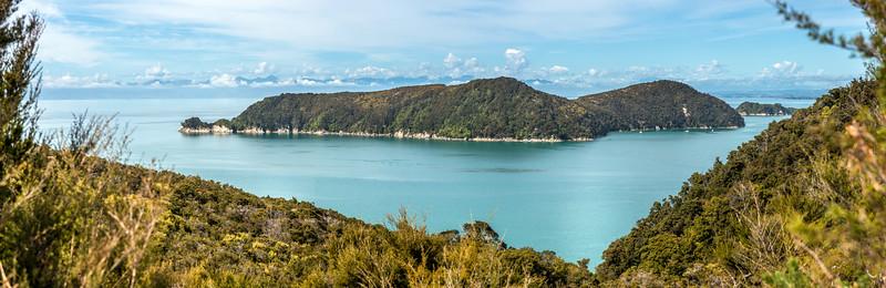 Motuareronui / Adele Island from the track above Observation Beach