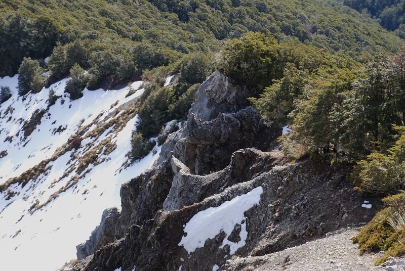 Erosion on the ridge to peak 1651 above Casey Saddle