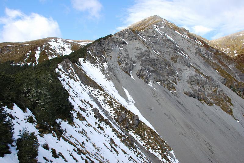 The ridge to peak 1651 above Casey Saddle