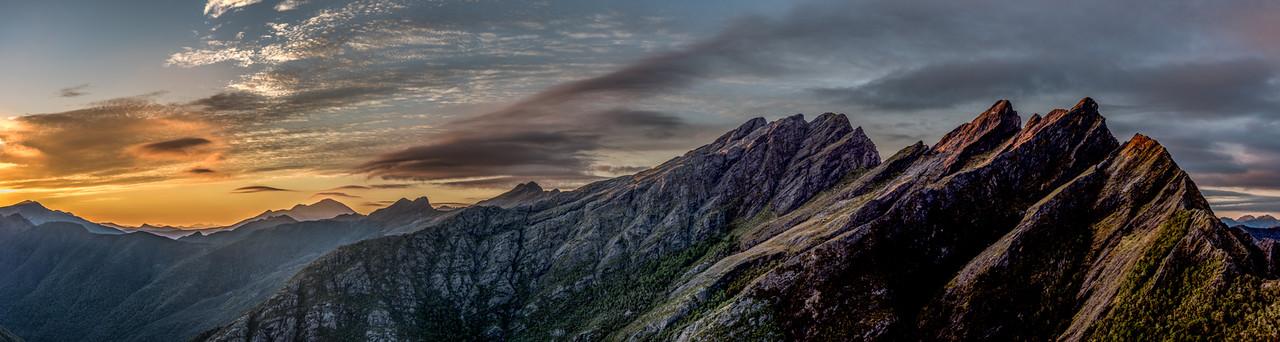 Mount Snowdon, Drunken Sailors, Anatoki Peak and Dragons Teeth.