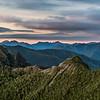 The Tasman Mountains (Domett Range and Gouland Range) at dawn.