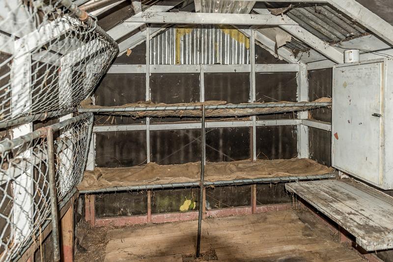 The old Boulder Lake Hut - hut interior