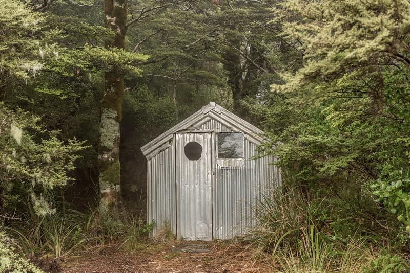 The old Boulder Lake Hut