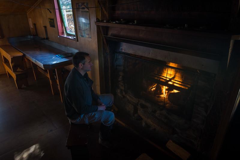 At Gouland Downs Hut. Photo © Crystal Brindle.