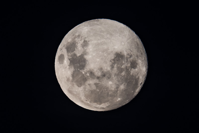 Full moon above Saxon Hut. Heaphy Track, Kahurangi National Park.