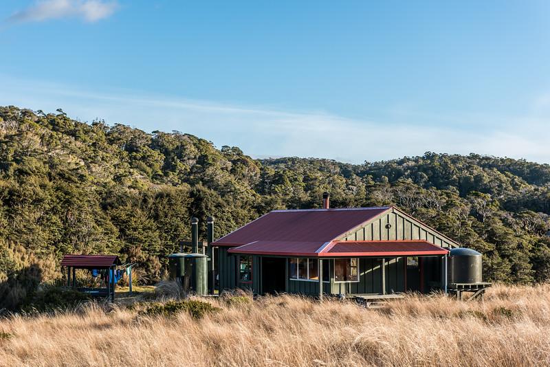 Saxon Hut. Heaphy Track, Kahurangi National Park.