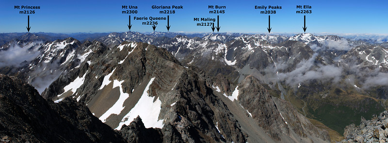 Panorama from the summit of Mt Franklin