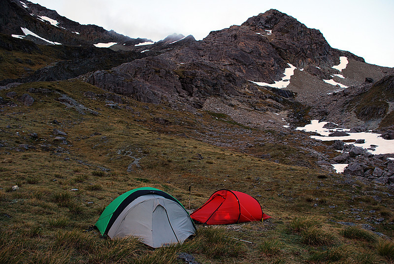 Campsite on the southern slopes of Waiau Pass