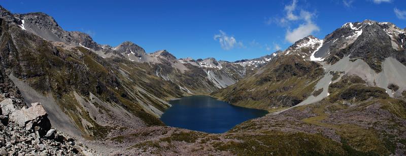 Lake Constance and Waiau Pass from the western slopes of Mt Franklin