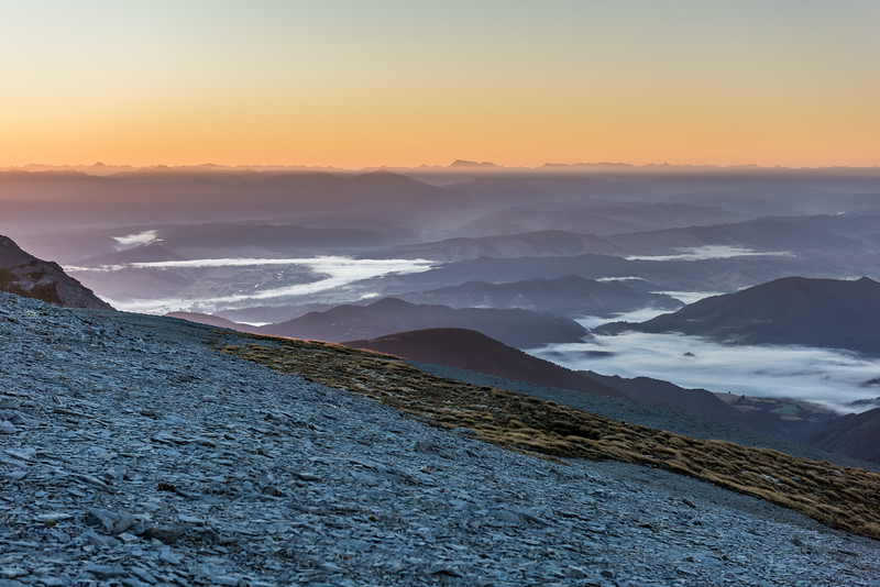 View from Mount Arthur at sunrise