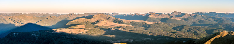 Mount Arthur Tablelands panorama. Mount Snowdon stands out on the righthand side.