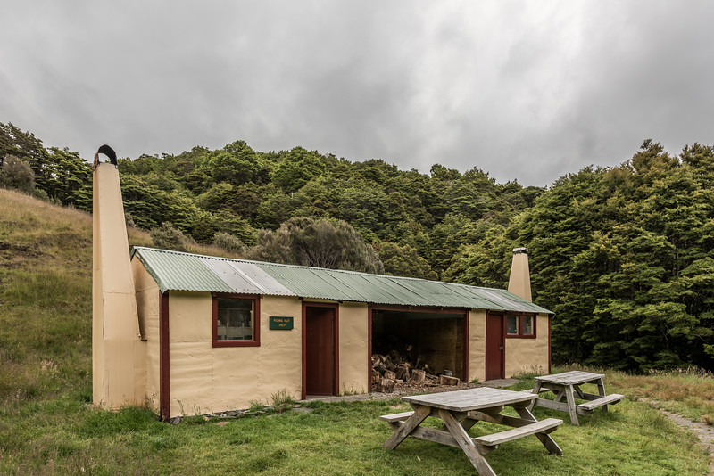 Flora Hut. Flora Stream, Kahurangi National Park.