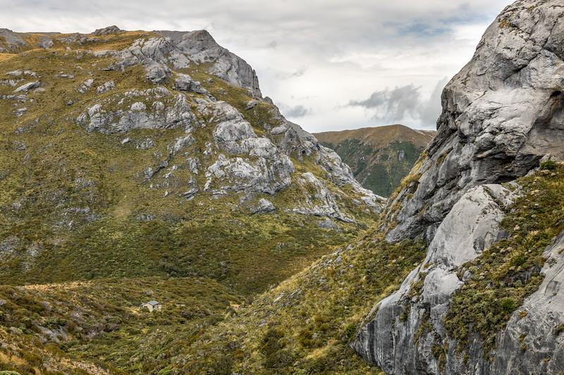 Granity Pass Hut. Mount Owen, Kahurangi National Park.
