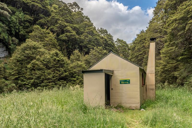 Branch Creek Hut. Fyfe River, Kahurangi National Park.
