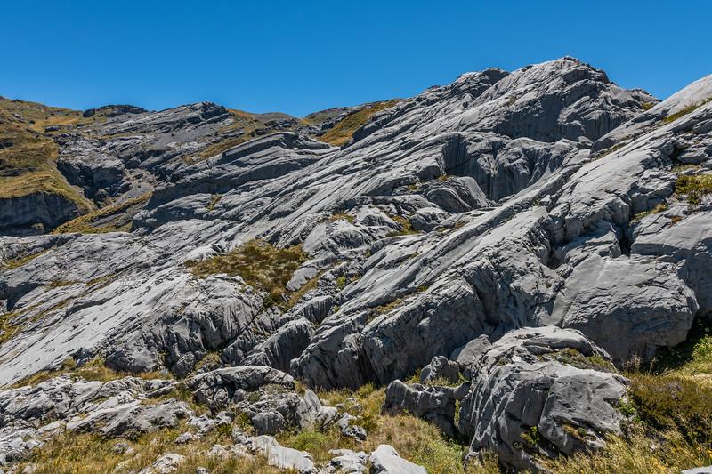 Karst landscape in Castle Basin. Mount Owen, Kahurangi National Park.