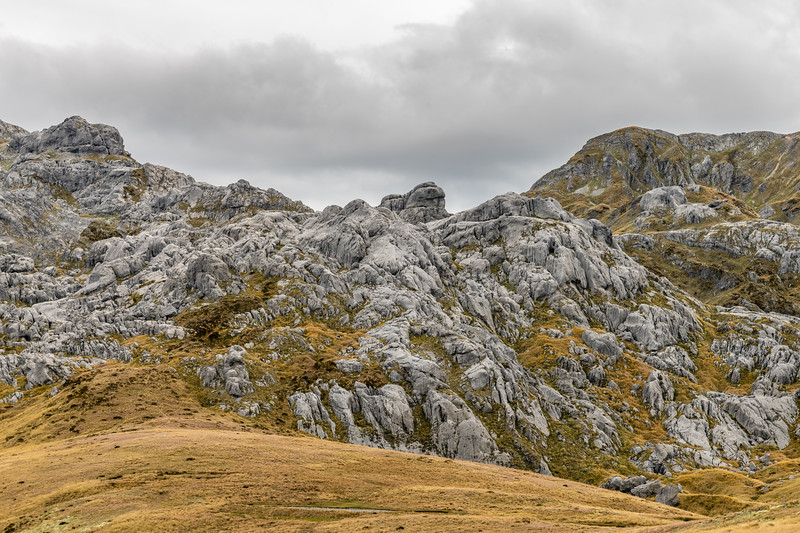Karst landscape on Mount Owen's northern slopes.