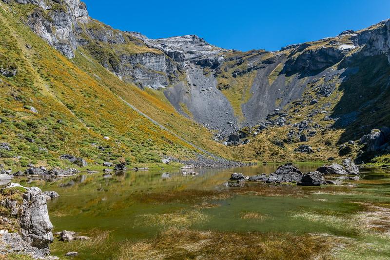 Lake Bulmer. Mount Owen, Kahurangi National Park.