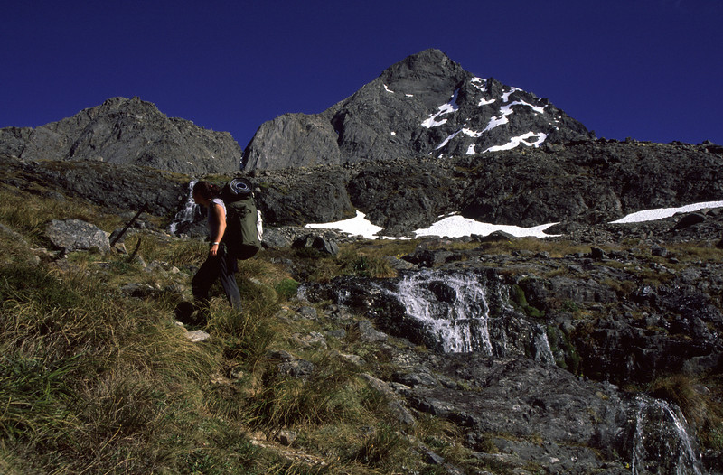 On the way to Travers Saddle