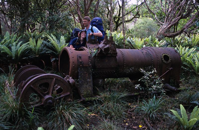 Steam engine, Murray Beach