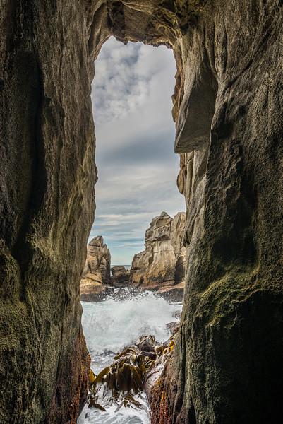 Sea cave at Long Harry Bay