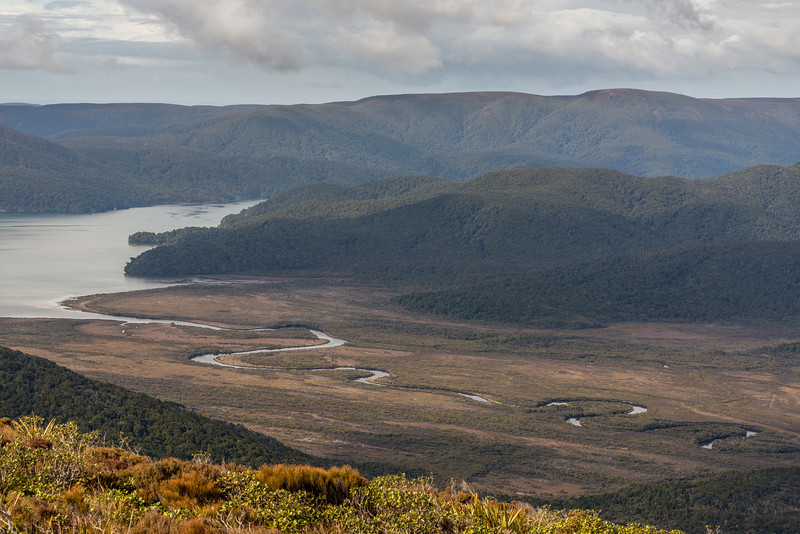 View from Rocky Mountain: Freshwater River mouth and Bald Hill
