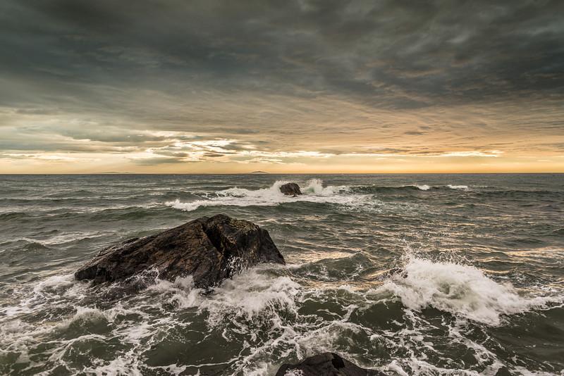 Stormy seas at Christmas Village