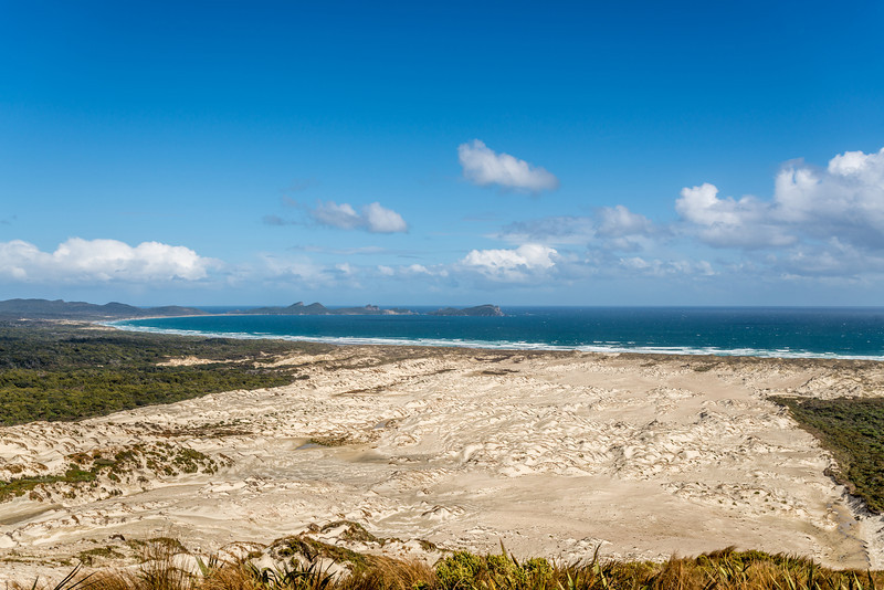 View of Mason Bay and the Ernest Islands from Big Sandhill