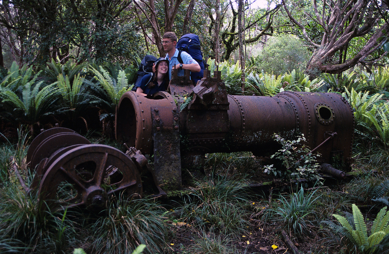 Steam engine, Murray Beach