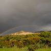 Mason Bay Hut: rainbow over the Big Sandhill