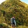 Approaching breezy Tuiti, the western Tararua Peak.