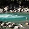 Quick swim in the Copland River