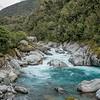 Lovely rapids in the Kokatahi River downstream of Blue Duck Creek