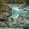Cara and the Kokatahi River near Davie Creek
