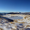 Frozen tarn on the Mataketake tops