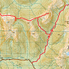Topomap of route - from Duffy's Creek to Lake Stream Biv via pt. 1573 then out via Lake Stream