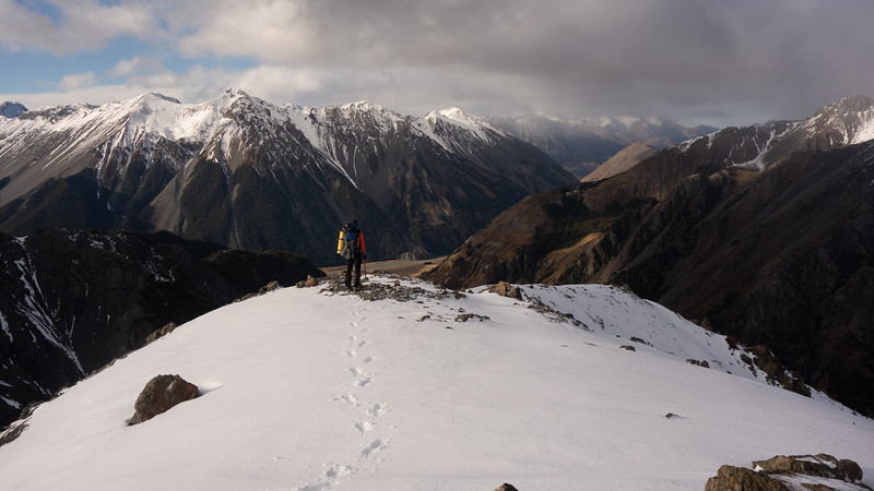 Views down to the Avoca from Pt. 1647m (James Thornton).