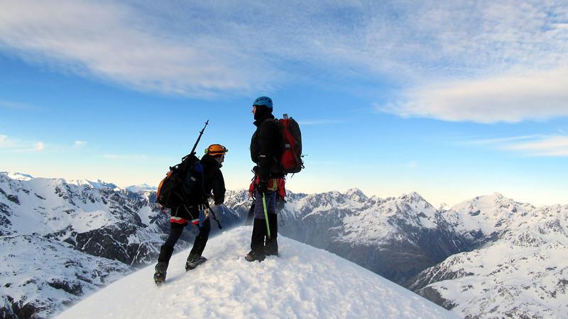 Merv and Wayne on the summit.
