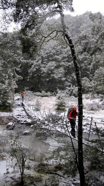 Crossing Hamilton Creek.