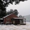 Snowy Hamilton Hut.