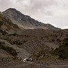 Falling Mountain above the landslide that makes Taruahuna Pass.