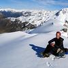 On the summit, Edwards Valley below.