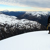 Me on the summit of Mt Valiant, Mt Alexander in the distance on the left.