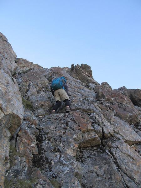 Climbing to Pt. 1828m.