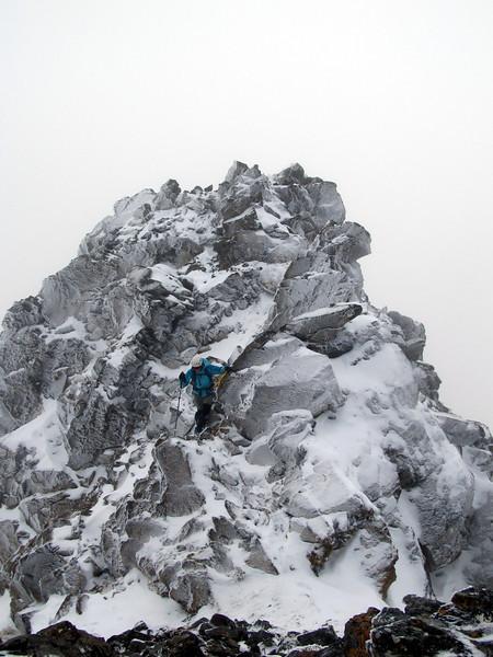 On the north ridge of Tarapuhi.